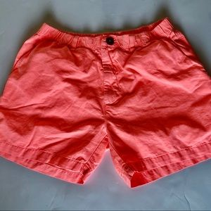 Chubbies Mens Neon Orange Shorts Size Medium